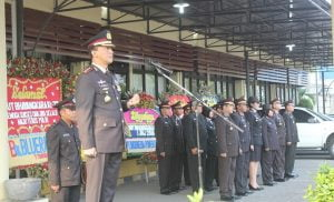 Apel HUT Bhayangkara, Kapolres Pelabuhan Bacakan Amanat Presiden 101
