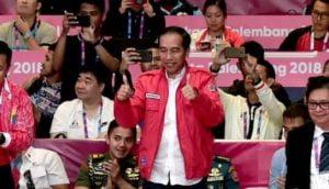 Presiden Datang Atlet Wushu Raih Medali Emas 113