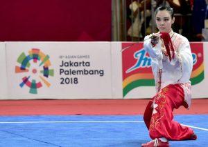 Presiden Datang Atlet Wushu Raih Medali Emas 114
