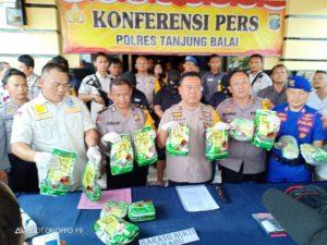 Polres Tanjung Balai Tangkap Jaringan Narkotika Internasional 113