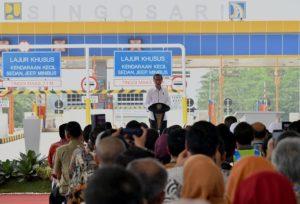 Presiden Jokowi Resmikan Tol Pandaan - Malang 113