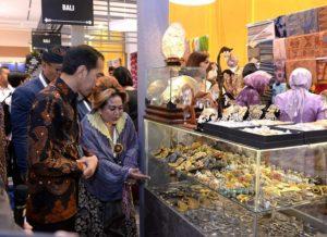 Presiden Jokowi Buka Pameran Karya Kreatif Indonesia di JCC 114