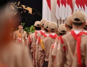 Presiden Lepas Kontingen Jambore Nasional Kepanduan Dunia XXIV di AS 114