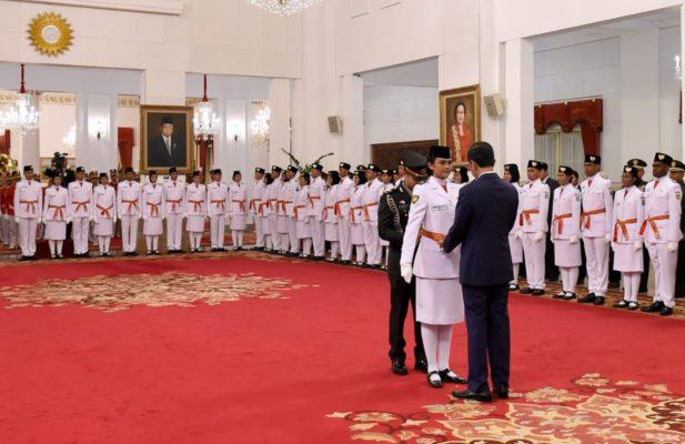 Presiden Jokowi Kukuhkan 68 Anggota Paskibraka di Istana Negara 1
