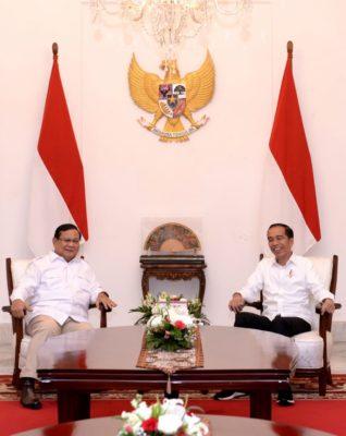 Presiden Jokowi Terima Kedatangan Prabowo di Istana Merdeka 2