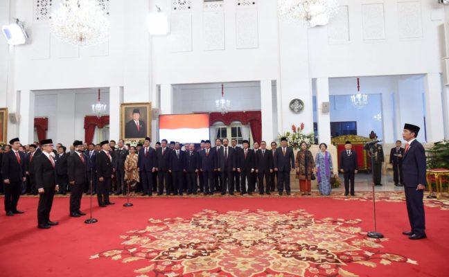 Presiden Jokowi Lantik 12 Wakil Menteri di Istana Negara 113