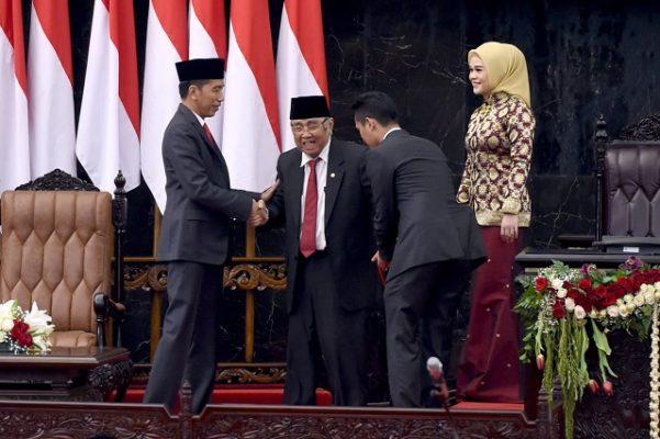 Presiden Jokowi Hadiri Pelantikan Anggota Legislatif Periode 2019-2024 111