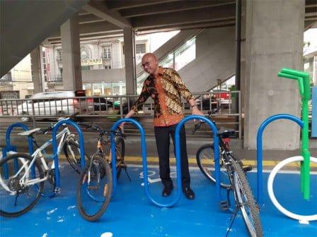 Dirut MRT Tinjau Jalur Dan Tempat Parkir Sepeda 113