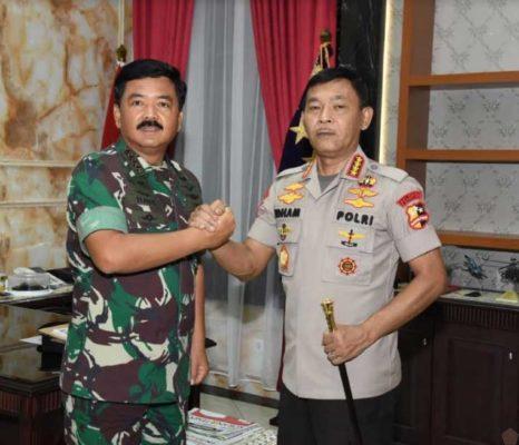 Panglima TNI Terima Kunjungan Kapolri 113