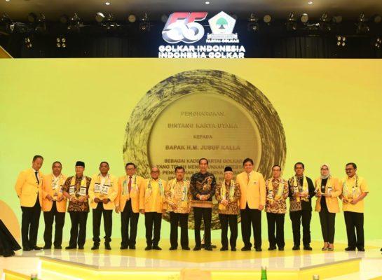 Presiden Jokowi Turut Berbahagia untuk Jusuf Kalla di HUT ke-55 Golkar 111