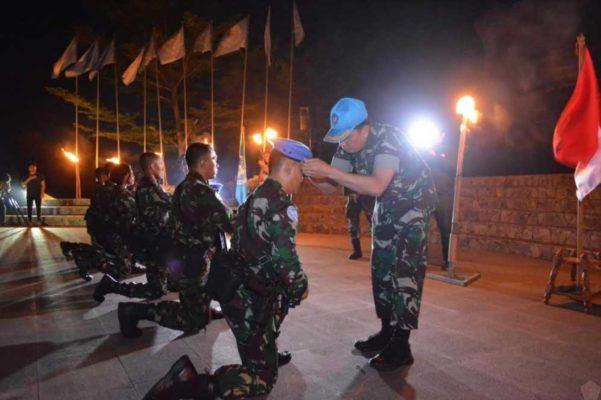 Satgas Yon Mekanis TNI Konga XXIII-N/UNIFIL Terima Pembaretan 113