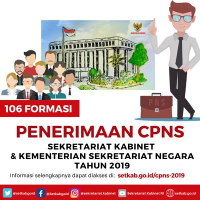 Sekretariat Negara dan Sekretariat Kabinet Buka Lowongan 106 Formasi CPNS 113