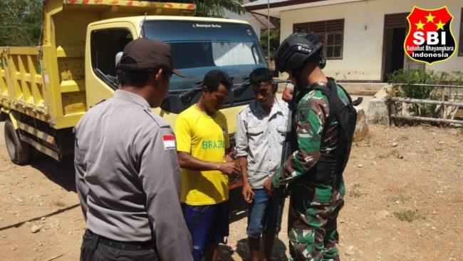 Sweeping Bersama Merupakan Bentuk Sinergitas TNI-POLRI yang Diciptakan Satgas Yonif R 142/KJ di Daerah Penugasan 113