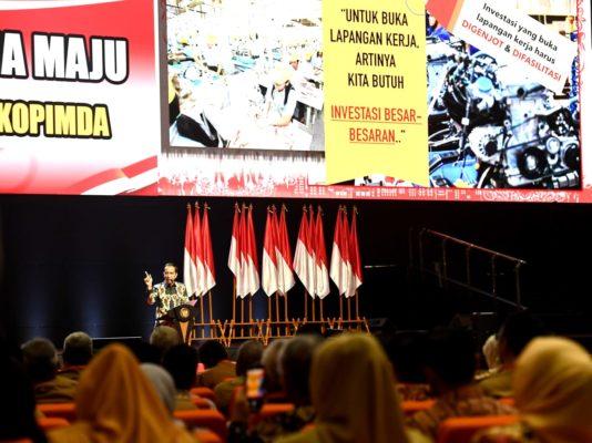 Presiden Jokowi Buka Rakornas Indonesia Maju 113