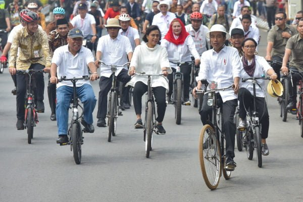 Presiden Jokowi Tinjau Rehabilitasi Pasar Johar dan Revitalisasi Kota Lama di Semarang 113