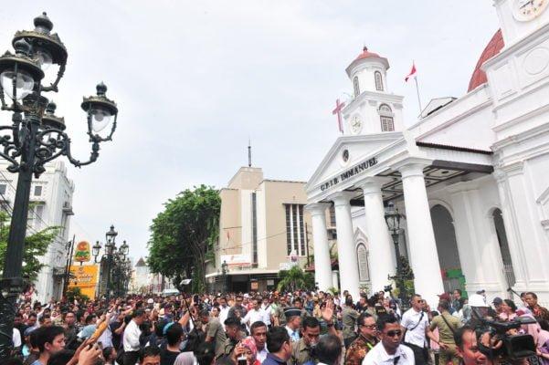 Presiden Jokowi Tinjau Rehabilitasi Pasar Johar dan Revitalisasi Kota Lama di Semarang 114