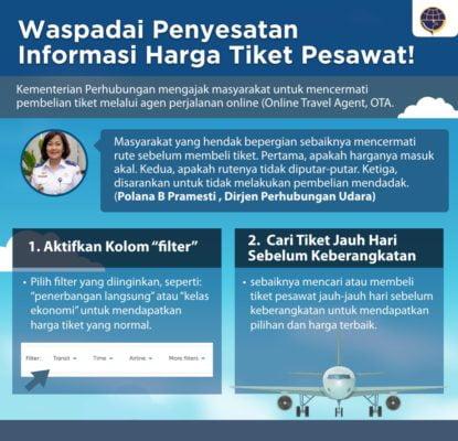 Hindari Penyesatan Informasi, Dirjen Perhubungan Udara Imbau Masyarakat Hati-Hati Beli Tiket Pesawat 'Online' 113