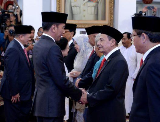 Presiden Jokowi Lantik Anggota Wantimpres 2019-2024 di Istana Negara 112