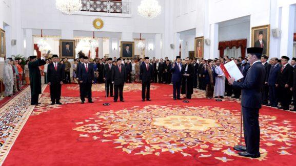 Presiden Jokowi Lantik Anggota Wantimpres 2019-2024 di Istana Negara