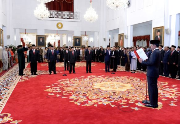 Presiden Jokowi Lantik Anggota Wantimpres 2019-2024 di Istana Negara 111