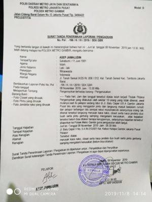 Diduga Oknum Mafia Tanah Rusak Rumah Warga di Batu Ceper Jakarta Pusat 114