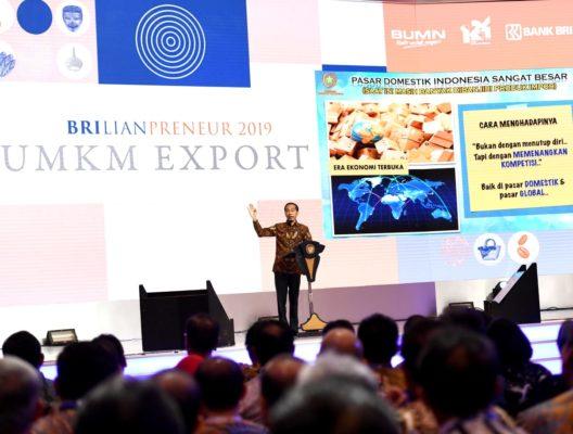 Buka UMKM Export BRIlianpreuneur 2019, Presiden Optimistis Produk UMKM Indonesia Bisa Bersaing di Pasar Global 113