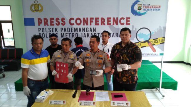 Polsek Pademangan Merilis Tindak Pidana Penyalahgunaan Narkotika Jenis Sabu 114