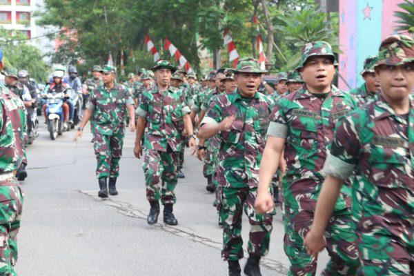 Guna Menjamin Kesiapan Dan Kesiapsiagaan Personil, Dandim 0503/JB Pimpin Long Mars Minggu Militer 113