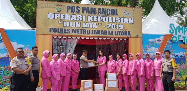 Ariessa Joko Handono Ikut Semangati Pos PAM OPS lilin Jaya 113