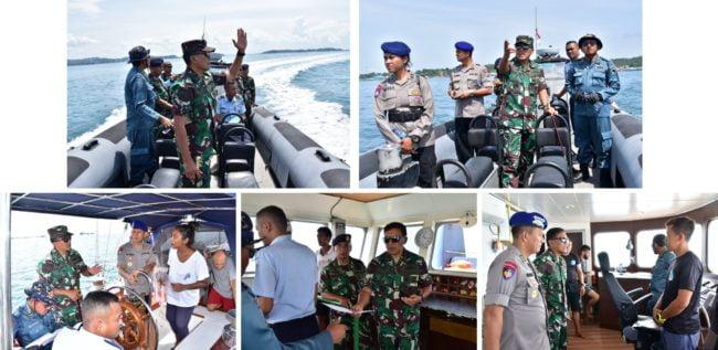 Tingkatkan Keamanan Danlantamal XIV Gelar Patroli Laut 111