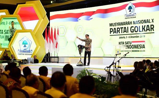 Buka Munas X Partai Golkar, Presiden: Stabilitas Politik Mengamankan Ekonomi Nasional 111