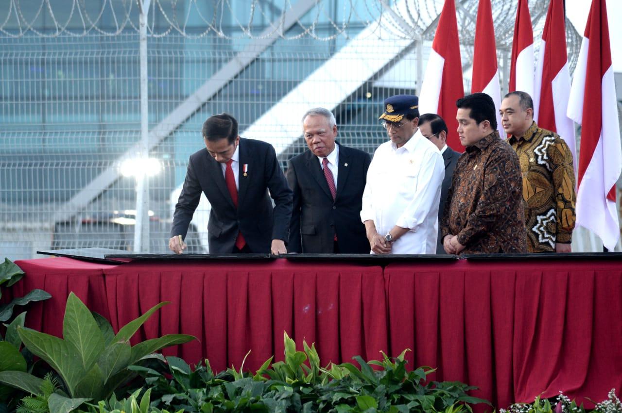 Resmikan Landasan Pacu 3, Presiden Harapkan Peningkatan Layanan Bandara Soekarno-Hatta 113