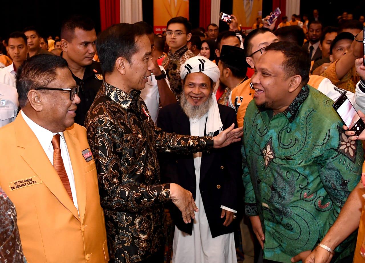 Hadiri Pengukuhan DPP Partai Hanura, Presiden Serukan Pilkada 2020 Tanpa Politik SARA dan Hoaks 114
