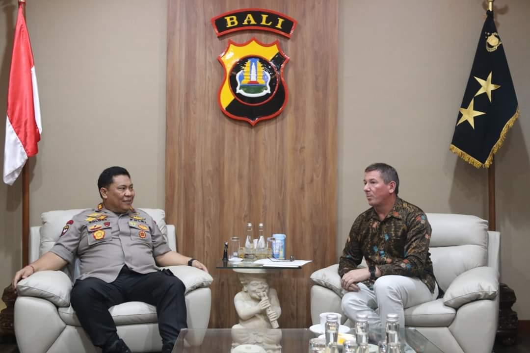 Kapolda Bali Terima Kunjungan Dari Australian Federal Police 113