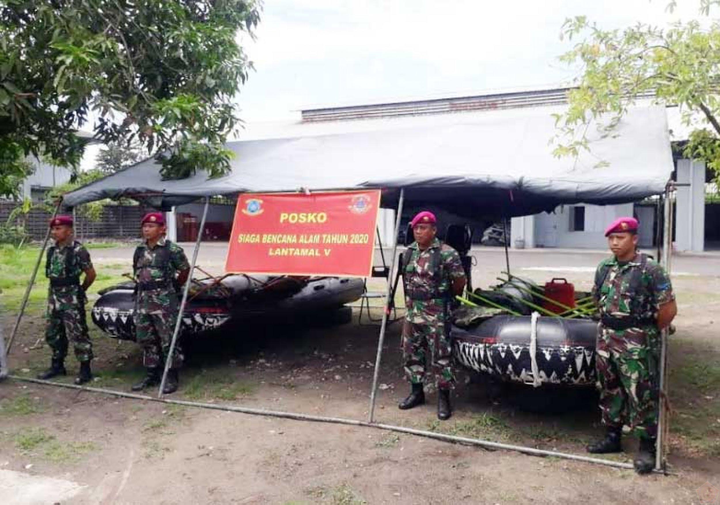 Yonmarhanlan V Surabaya Siapkan Paukan Satgas Becana Alam 113