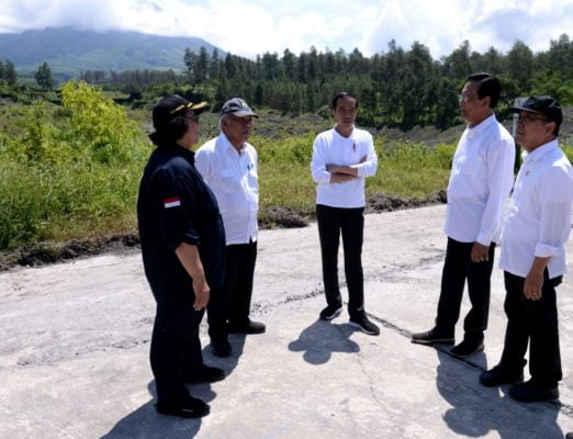 Presiden Jokowi Tinjau Sabo Dam Kali Putih 101