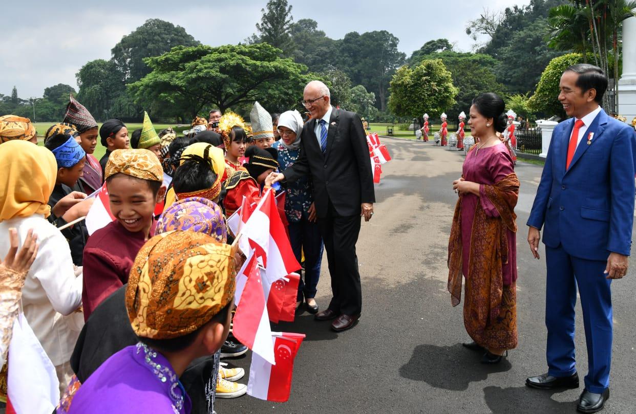 Presiden Jokowi Sambut Kunjungan Kenegaraan Presiden Singapura di Istana Bogor 101
