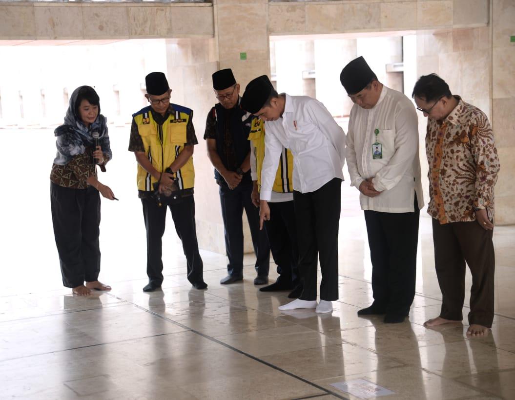 Tinjau Renovasi Istiqlal, Presiden Setujui Usulan Terowongan Penghubung Silaturahmi Istiqlal-Katedral 114