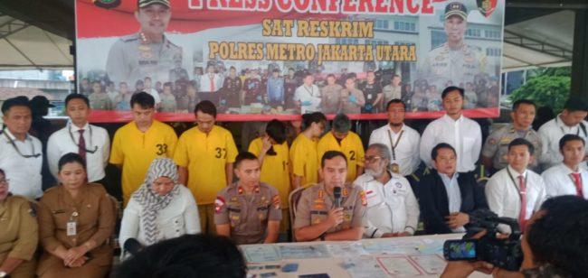 Polres Jakut Bersama Polsek Kelapa Gading Grebek Apartemen Penampung 101