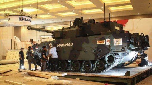 Pindad Pamerkan Medium Tank Harimau ke Kementerian Pertahanan Filipina