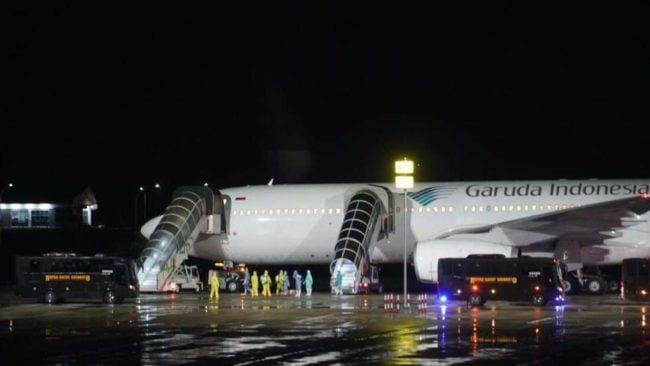 Pesawat Garuda A330 Yang Menjemput 69 WNI dari Jepang 101