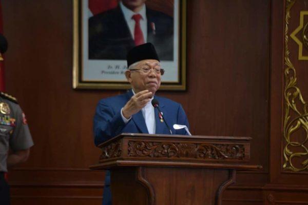 Wakil Presiden K.H. Ma'ruf Amin Ucapkan Terima Kasih Atas Gelar Bapak Ekonomi Syariah Dari UIN Suska Riau 101