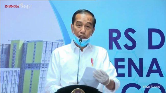 Keterangan Pers Presiden RI setelah Peninjauan Rumah Sakit Darurat Penanganan COVID-19 Wisma Atlet Kemayoran 113
