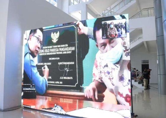 Gubernur Jabar Resmikan RSUD Pandega Pangandaran Melalui Teleconference 113