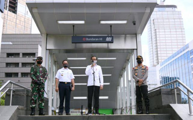 Presiden Tinjau Kesiapan Pendisiplinan Protokol Kesehatan di Stasiun MRT 101
