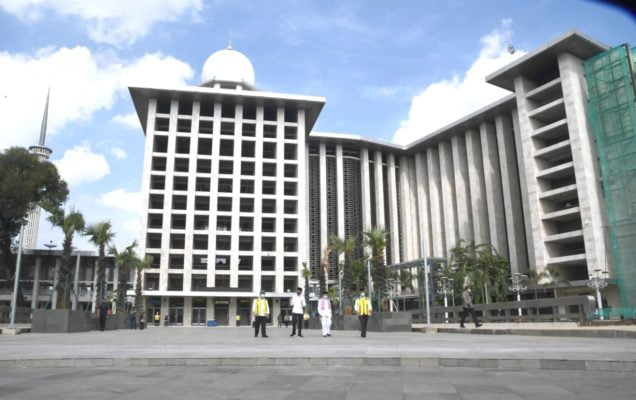 Presiden Jokowi Tinjau Kesiapan Kenormalan Baru di Masjid Istiqlal 101