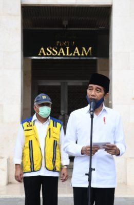 Presiden Jokowi Tinjau Kesiapan Kenormalan Baru di Masjid Istiqlal 102