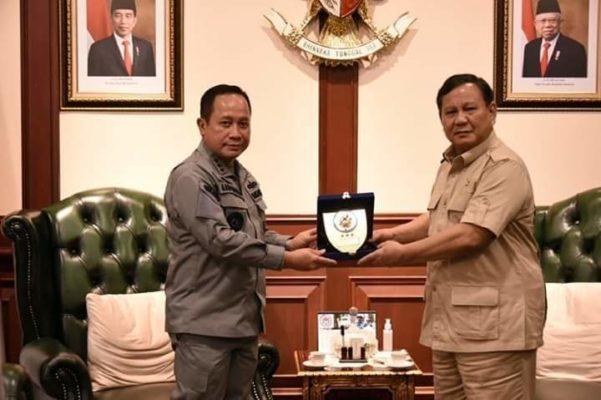 Kepala Bakamla RI Courtesy Call kepada Menhan Prabowo Subianto 101