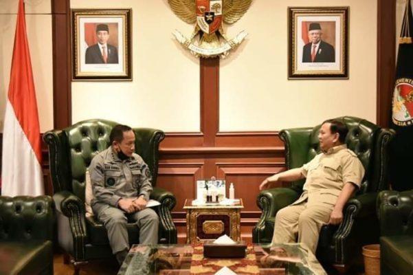 Kepala Bakamla RI Courtesy Call kepada Menhan Prabowo Subianto 102