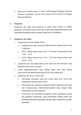 Gugus Tugas Terbitkan SE Aturan Jam Kerja Wilayah Jabodetabek Aman Covid-19 dan Produktif 104